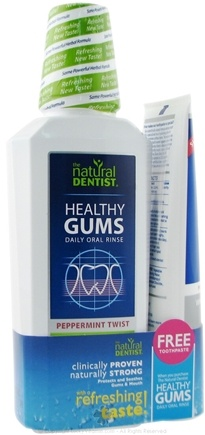 DROPPED: Natural Dentist - Healthy Gums Rinse/Toothpaste Value Pack Peppermint Twist - 16 oz.