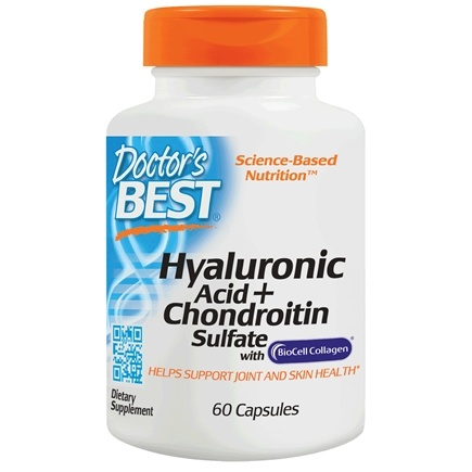 Doctor's Best - Best Hyaluronic Acid with Chondroitin Sulfate 100 mg. - 60 Capsules