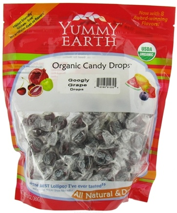 DROPPED: Yummy Earth - Organic Candy Drops Gluten Free Googly Grape - 13 oz.