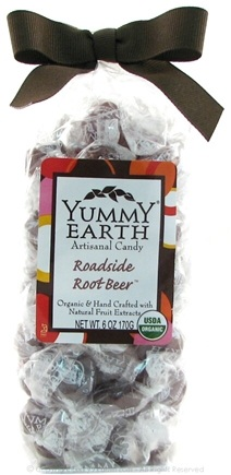 DROPPED: Yummy Earth - Organic Artisanal Candy Gluten Free Roadside Rootbeer - 6 oz.
