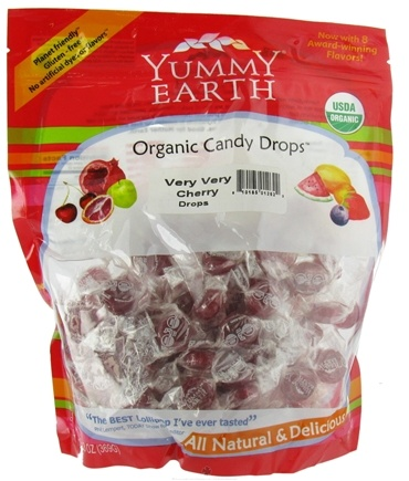 DROPPED: Yummy Earth - Organic Candy Drops Gluten Free Very Very Cherry - 13 oz. CLEARANCE PRICED