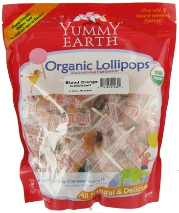 DROPPED: Yummy Earth - Organic Lollipops Gluten Free Blood Orange Cocktail - 12.3 oz.