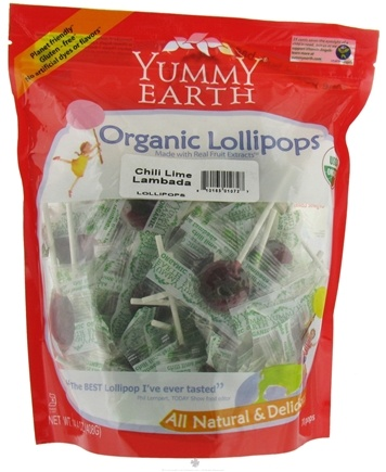 DROPPED: Yummy Earth - Organic Lollipops Gluten Free Chili Lime Lambada - 14.4 oz.