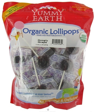 DROPPED: Yummy Earth - Organic Lollipops Gluten Free Googly Grape - 12.3 oz. CLEARANCE PRICED