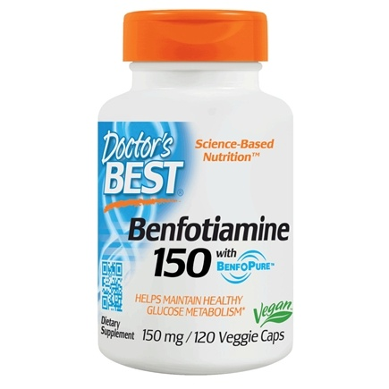 Doctor's Best - Best Benfotiamine 150 mg. - 120 Vegetarian Capsules /LUCKY PRICE