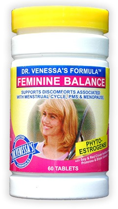 DROPPED: Dr. Venessa's Formulas - Feminine Balance - 60 Tablets CLEARANCE PRICED