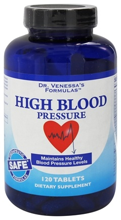 Dr. Venessa's Formulas - High Blood Pressure Support - 120 Tablets