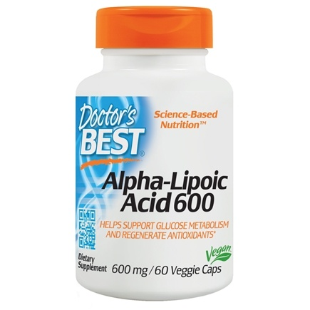 Doctor's Best - Best Alpha Lipoic Acid 600 mg. - 60 Vegetarian Capsules /LUCKY PRICE
