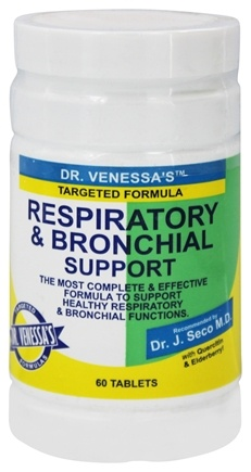 DROPPED: Dr. Venessa's Formulas - Respiratory & Bronchial Support - 60 Tablets