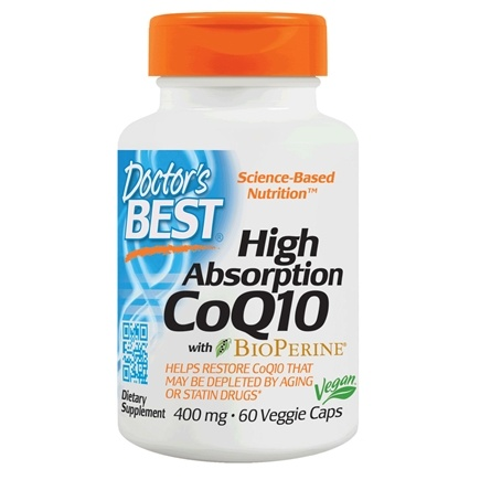 Doctor's Best - High Absorption CoQ10 400 mg. - 60 Vegetarian Capsules