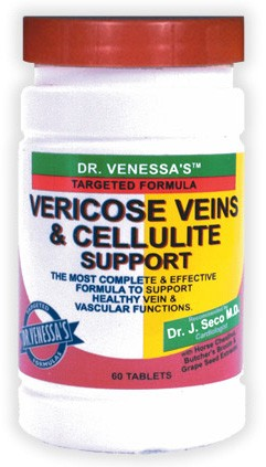 DROPPED: Dr. Venessa's Formulas - Vericose Vein & Cellulite - 60 Tablets