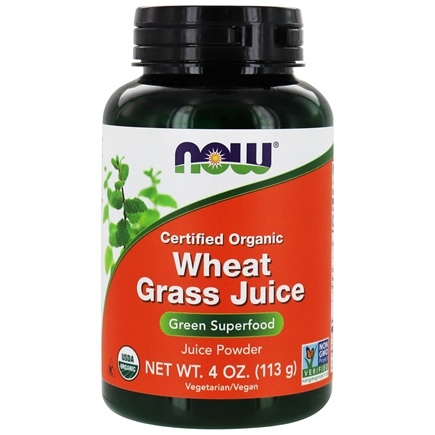 NOW Foods - Wheat Grass Juice Green Superfood  Powder Certified Organic - 4 oz.