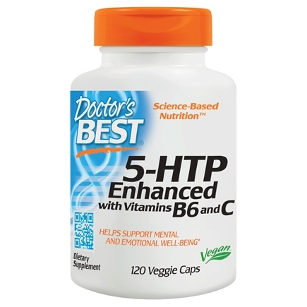 Doctor's Best - 5-HTP Enhanced with Vitamins B6 & C - 120 Vegetarian Capsules