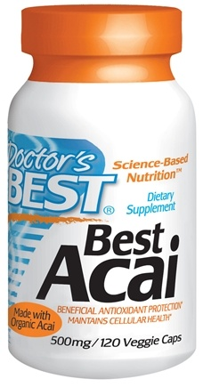 DROPPED: Doctor's Best - Best Acai 500 mg. - 120 Vegetarian Capsules CLEARANCED PRICED