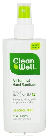 DROPPED: CleanWell - Natural Hand Sanitizer Alcohol Free - 6 oz.