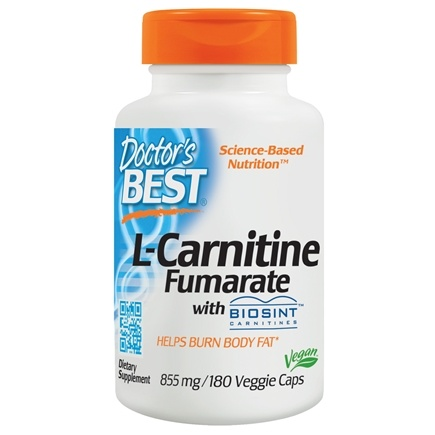 Doctor's Best - Best L-Carnitine Fumarate 855 mg. - 180 Vegetarian Capsules