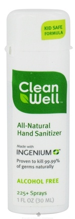DROPPED: CleanWell - Natural Hand Sanitizer Alcohol Free - 1 oz. CLEARANCE PRICED