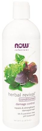 DROPPED: NOW Foods - Natural Herbal Revival Conditioner For Damaged Hair - 16 oz. CLEARANCE PRICED