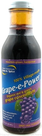 DROPPED: North American Herb & Spice - Grape-e-Power Concentrate - 12 oz. CLEARANCE PRICED