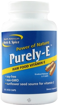 DROPPED: North American Herb & Spice - Purely-E - 60 Capsules
