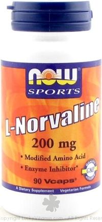 DROPPED: NOW Foods - L-Norvaline - 90 Vegetarian Capsules