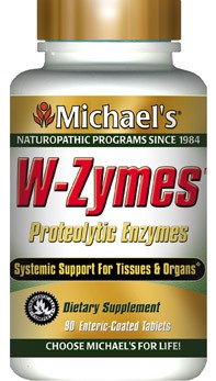DROPPED: Michael's Naturopathic Programs - W-Zymes Proteolytic Enzymes - 180 Enteric-Coated Tablets