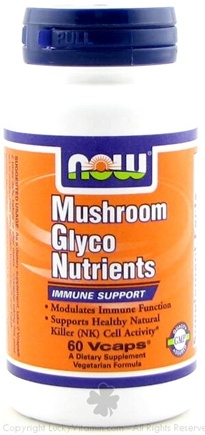 DROPPED: NOW Foods - Mushroom Glyco Nutrients Immune Support - 60 Vegetarian Capsules
