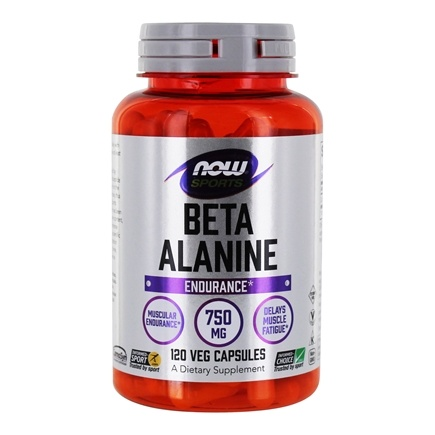 NOW Foods - Beta-Alanine 750 mg. - 120 Capsules