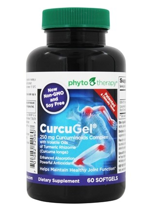 Phyto Therapy - CurcuGel 250mg Curcuminoids Complex - 60 Softgels