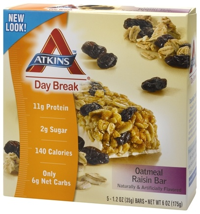 DROPPED: Atkins Nutritionals Inc. - Atkins Day Break Bars Oatmeal Raisin - 5 Bars