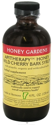 DROPPED: Honey Gardens Apiaries - Honey Wild Cherry Bark Syrup - 4 oz. CLEARANCE PRICED
