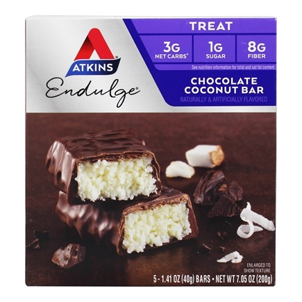 Atkins Nutritionals Inc. - Endulge Bar Chocolate Coconut - 5 Bars