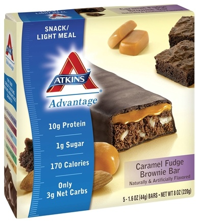 DROPPED: Atkins Nutritionals Inc. - Advantage Snack Bar Caramel Fudge Brownie - 5 Bars