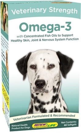 DROPPED: ReNew Life - Omega-3 Veterinary Strength For Dogs - 60 Gelcaps