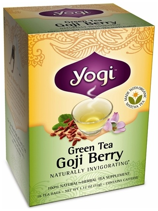 DROPPED: Yogi Tea - Green Tea Goji Berry - 16 Tea Bags