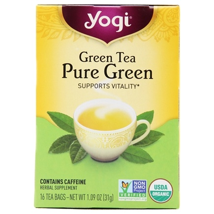 Yogi Tea - Green Tea Pure Green - 16 Tea Bags Formerly Simply Green
