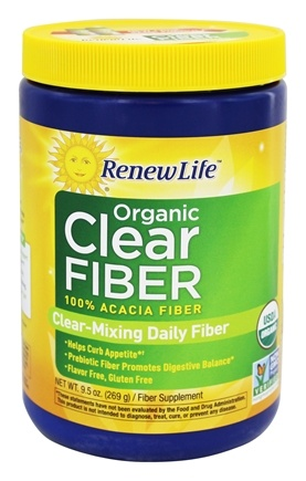 ReNew Life - Organic Clear Fiber - 9.5 oz. contains Acacia Fiber Powder
