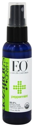 EO Products - Hand Sanitizer Spray Travel Size Organic Peppermint - 2 oz.