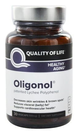 Quality Of Life Labs - Oligonol Supports Healthy Aging 100 mg. - 30 Vegetarian Capsules