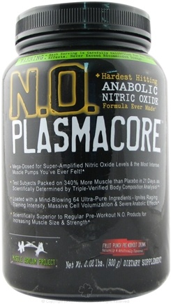 DROPPED: Muscle Asylum Project - N.O. PlasmaCore Anabolic Nitrous Oxide Fruit Punch - 2 lbs.