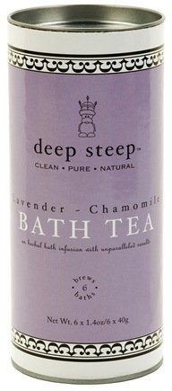 DROPPED: Deep Steep - Bath Tea Lavender Chamomile CLEARANCE PRICED - 6 Tea Bags