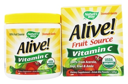 Nature's Way - Alive Vitamin C 100% Whole Food Complex - 120 Grams