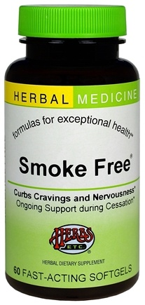 DROPPED: Herbs Etc - Smoke Free Alcohol Free - 60 Softgels CLEARANCE PRICED