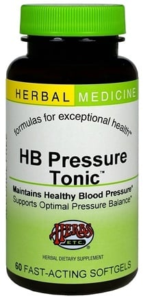 DROPPED: Herbs Etc - HB Pressure Tonic Alcohol Free - 60 Softgels CLEARANCED PRICED