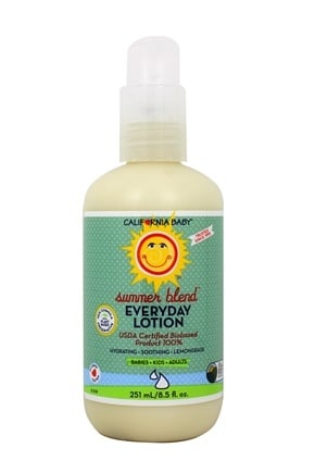 California Baby - Everyday Lotion Summer Blend - 6.5 oz. Formerly Summer Lotion Citronella