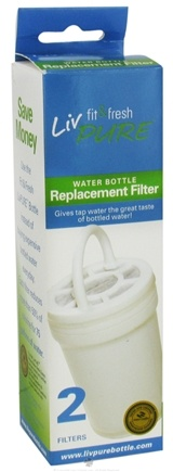 DROPPED: Fit & Fresh - LivPure Water Bottles Replacement Filters - 2 Pack CLEARANCE PRICED