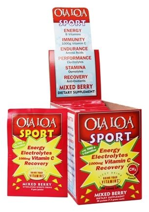 Ola Loa - Sport Effervescent Vitamin Drink Mixed Berry - 30 x 8g Packets