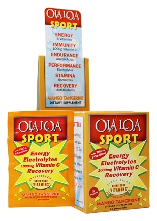 DROPPED: Ola Loa - Sport Effervescent Vitamin Drink Mango Tangerine - 30 x 8g Packets