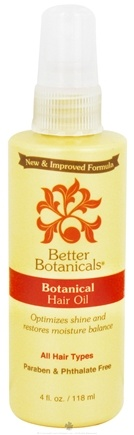 DROPPED: Better Botanicals - Botanical Hair Oil - 4 oz. CLEARANCE PRICED