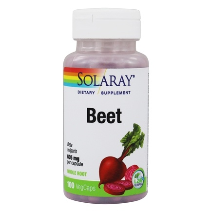 Solaray - Beet Root 605 mg. - 100 Capsules